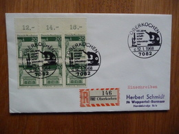(S) DEUTSCHE BUNDESPOST DUITSLAND REGISTRED COVER 1968  SONDERSTEMPEL - Lettres & Documents
