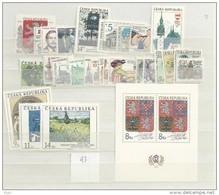 1993 MNH Ceska Republika, Complete Year,  Postfris** - Tchéquie