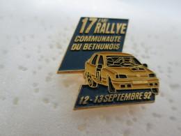 PIN'S    PEUGEOT  309  GTI  RALLYE  COMMUNAUTE DU  BETHUNOIS - Rallye