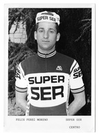 PHOTO CYCLISME FELIX PEREZ TEAM SUPER SER FORMAT 12,7 X 17,7 - Cyclisme