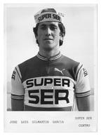 PHOTO CYCLISME JOSE LUIS GILMARTIN TEAM SUPER SER FORMAT 12,7 X 17,7 - Cyclisme