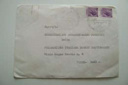 1974  BUSTA  SPEDITA  PATTINAGGIO SKATING  HCKEY   COMMISSARIO STRAORDINARIO PUGLIESE - Documents Historiques