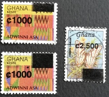 Ghana 2002 Surcharged USED - Ghana (1957-...)