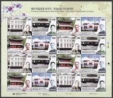 South Korea 2018 Oversaes Independence Movement Sites, Yi Jun, Ahn Jung-geun Yun Bong-gil, Full Sheet - Corée Du Sud