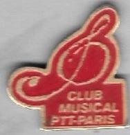 Pin's  Ville, Musique  LA  POSTE  CLUB  MUSICAL  P.T.T  PARIS - Mail Services