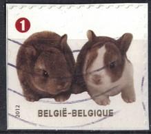 Belgique 2012 Oblitéré Used Animaux Oryctolagus Cuniculus Lapin Domestique SU - België