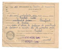 DOCUMENT De 1954.. Déclaration De CESSATION De COMMERCE.. MARCHAND De POISSONS à DOMFRONT (61) - Historical Documents
