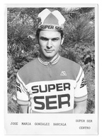 PHOTO CYCLISME JOSE MARIA GONZALEZ TEAM SUPER SER 1978 FORMAT 12,7 X 17,7 - Radsport