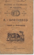 17 - Beurre Fromages De SAINTONGE - MORINEAUD à BARACOT Par CHAMPAGNOLLES - Carnet Ramassage Lait - Historical Documents