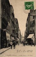 63 .. CLERMONT FERRAND  .. LA RUE NEUVE  .. 1914 .. COUTELLERIE A. MONNERET ..CHAUSSURES  AU PETIT POUCET - Clermont Ferrand
