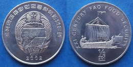 "NORTH KOREA - 1/2 Chon 2002 ""ancient Ship"" KM# 191 Democratic Peoples Republic (1948) - Edelweiss Coins - Corée Du Nord"