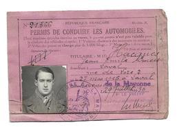 DOCUMENT...PERMIS De CONDUIRE De 1936 Titulaire HACQUES Jean Demeurant à LAVAL ( 53)...2 Scans - Documents Historiques