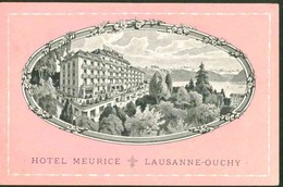 Hotel Meurice - Lausanne - Ouchy - VD Vaud
