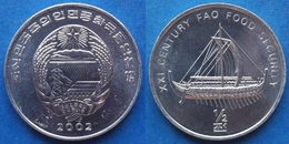 "NORTH KOREA - 1/2 Chon 2002 ""archaic Ship"" KM# 192 Democratic Peoples Republic (1948) - Edelweiss Coins - Corée Du Nord"