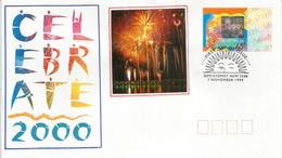 CELEBRATE 2000. Feux D'Artifices. Hologramme . FDC AUSTRALIA  2000  Sydney. - Holograms