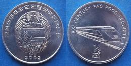 "NORTH KOREA - 1/2 Chon 2002 ""train"" KM# 193 Democratic Peoples Republic (1948) - Edelweiss Coins - Korea, North"