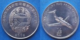 """NORTH KOREA - 1/2 Chon 2002 """"jet Airliner"""" KM# 194 Democratic Peoples Republic (1948) - Edelweiss Coins - Korea, North"""