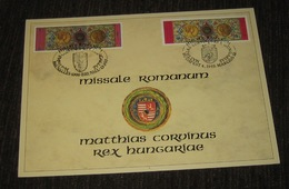 2 Cartes!! 2492HK - Missale Romanum - Belgische + Hongaarse Kaart / Carte Belge + Carte Hongrie - Souvenir Cards