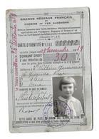 DOCUMENT De 1937...CARTE De REDUCTION 30 % Sur Les CHEMINS De FER SNCF, Mlle VILLIERS à FLERS (61)...2 Scans - Documents Historiques