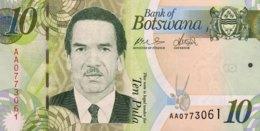 Botswana 10 Pula, P-30a (2009) - UNC - Botswana