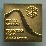 Ski Skiing Jumping - FIS Candidat, Kranjska Gora 1982. Slovenia, Pin, Badge, Abzeichen - Winter Sports