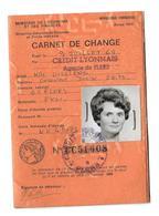 DOCUMENT De 1969...CARNET De CHANGE, Mlle VILLIERS à FLERS (61) - Documents Historiques