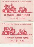 Lot De 2 Buvards - Tracteur Agricole Renault - Agriculture - Locomotions -  -Réf.29. - Agriculture