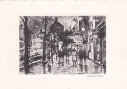 """Antwerpen-De Keyzerlei """"bij Regen"""" - Alphonse MORA - Antwerpen"""