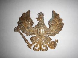PLAQUE DE CASQUE À POINTE PRUSSIEN MODÈLE 1895 TROUPE ALLEMANDE - Headpieces, Headdresses