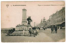 Blankenberge, Blankenberghe, Digue Et Monument Debruyne Et Lippens (pk52337) - Blankenberge