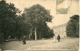 CPA - SAINT-BRIEUC - PALAIS DE JUSTICE ET LA GRANDE PROMENADE - Saint-Brieuc