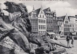 37-Antwerpen - Grote Markt En Brabo - Anvers - Grand'Place Et Brabo - Antwerpen