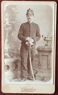 CDV. Militaire Avec Shako Et épée. Militaria. Musicien. Photographe Charles à Orléans. - Anciennes (Av. 1900)
