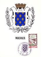 59 MOUVAUX    - BLASON DE LA VILLE -  OBLITERATION 2 ème Fête Du Commerce Et Artisanat - Autres Communes