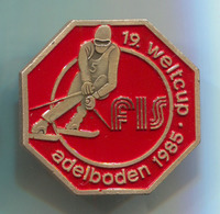 Ski Skiing Jumping - FIS World Cup, ADELBODEN 1985. Pin, Badge, Abzeichen - Winter Sports