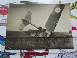 Vintage Photo Breguet 14 Reconnaisance Plane After A Landing Mishap - Aviation
