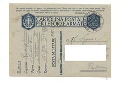 2837) FRANCHIGIA POSTA MILITARE 55 17-12-1941 X PALERMO - Storia Postale
