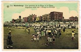 Blankenberge, Blankenberghe, Algemeen Zicht Van 't Strand En Zeedijk (pk52339) - Blankenberge