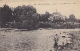 52. SAINT DIZIER. CPA. ENFANTS SUR LES BORDS DE LA MARNE A LA NOUE. ANNEE 1916. + TEXTE - Saint Dizier