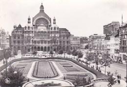 10-Antwerpen-Koningin Astridplaats En Middenstatie-Anvers-Place Reine Astrid Et Gare Centrale - Antwerpen