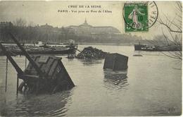 CPA INONDATIONS DE PARIS 1910. PARIS VII. VUE PRISE AU PONT DE L'ALMA - Inondations De 1910