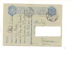 2843) FRANCHIGIA POSTA MILITARE 121 2-7-1941 X PALERMO - 1900-44 Vittorio Emanuele III