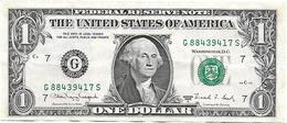 (Billets). USA. 1 $. 1 Dollar 1988 N° G 884394117 S - Bilglietti Della Riserva Federale (1928-...)