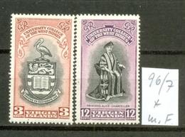 VIRGIN ISLANDS - 096/7 + 110  BWI-Universität + Kröng.  Kmpl.m.Falz - British Virgin Islands