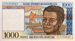 Madagascar 1.000 Francs, P-76b (1994) - UNC - Madagascar