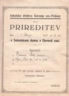 3391  SLOVENIJA  SOKOLI  GORENJA  VAS-POLJANE - Affiches