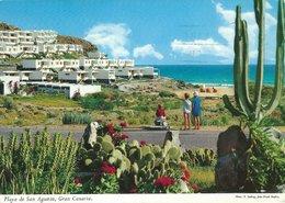 Playa De San Augustin. Gran Canaria. Sent To Denmark . B-3385 - Gran Canaria