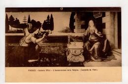 CPA-NB1956-FIRENZE GALLERIA UFFIZI L ANNUNZIAZIONE DELLA VERGINE LEONARDO DA VINCI - Peintures & Tableaux
