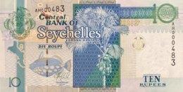 Seychelles 10 Rupees, P-36 (2013) - UNC - Seychelles
