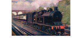 LES LOCOMOTIVES (Royaume-Uni) L.& N.W.R. 4-4-2 TANK ENGINE PASSING OVER BUSHEY WATERTROUGHS - Trains